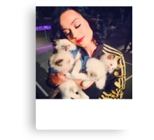 Katy With Her Kitty Kats Canvas Print
