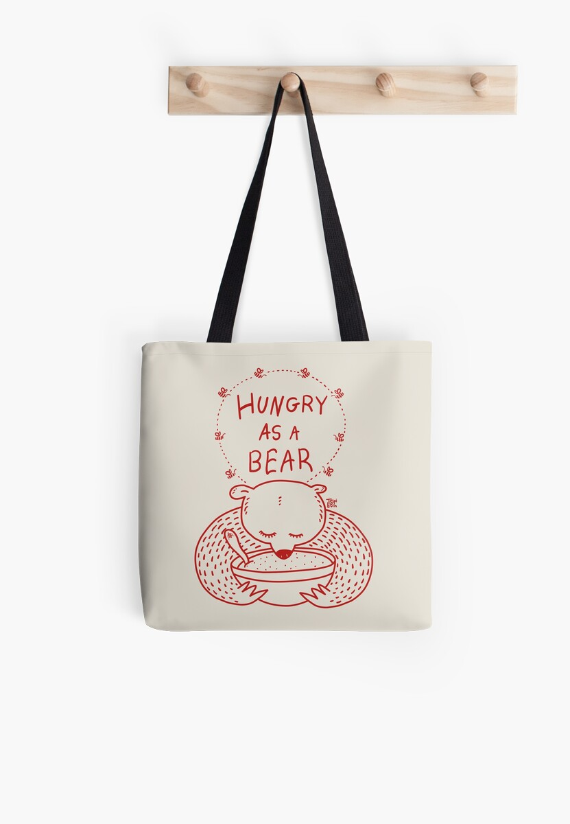 Hungry As A Bear - One Color - Red / by TsipiLevin