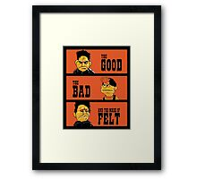 Angel - The Good, the bad, and the made of felt Framed Print