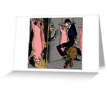 Meat Brawl - Color Greeting Card