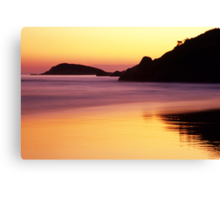 Sunset - Squeaky Beach Canvas Print