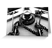 Anchor Chain Twists Greeting Card