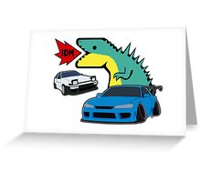 JDM dino & cars Greeting Card