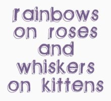 Rainbows on Roses Kids Clothes