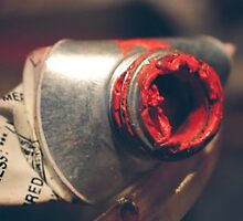 Red paint tube by originalprint