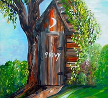 Outhouse - Privy - The Old Out House by EloiseArt