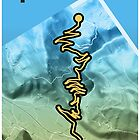 Cycling Poster of Alpe d Huez by Rastas748