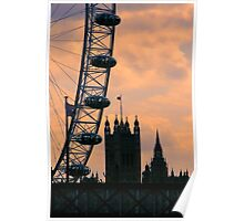 Westminster and London Eye Poster