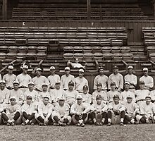 Yankees at New Orleans 1921 with Babe Ruth by Old-Time-Images