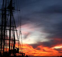Tall Leeuwin Sunset by Gabby Lewis