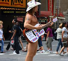The Naked Cowboy, New York by rochelle