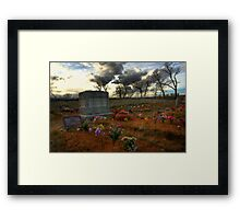 Chief Washakie's Grave Framed Print