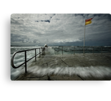 High Tide at Merewether Baths Canvas Print