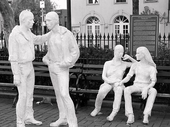stoned statues in the park by deegarra