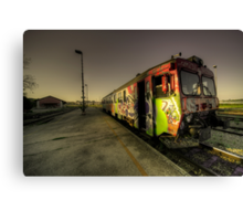 Pula Graffiti train  Canvas Print