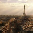 Eiffel Sunset by Kalena Chappell