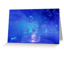 Ice Budda Greeting Card