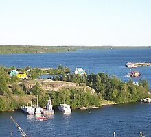 Yellowknife houseboats by fenner