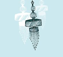 trio chandelier (in baby blue) by Tiffany Atkin