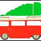 Christmas bus by Sharon Poulton