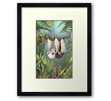 Sloth with Baby Framed Print