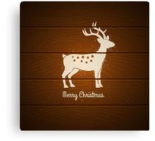 deer on wooden background Canvas Print