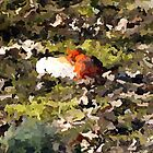 14 1570 0 paint and ink bird singing. by crescenti