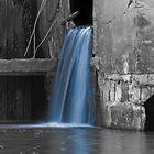 Waterfall through an Old Damn Wall by Ian Moreland