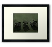 Cubic Progression Framed Print