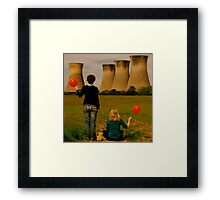From the red balloon diaries Framed Print