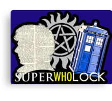 SuperWhoLock - Crossover MegaVerse Canvas Print