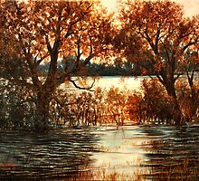 Sunset at Cheney  by Lynne Wright