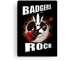 Badgers rock with text Canvas Print
