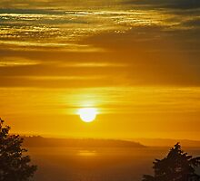 Sunset Over Puget Sound by Judith Winde