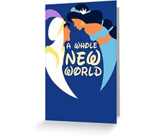 A Whole New World Greeting Card