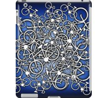 Tangled Up In Bicycles 2 - Blue Black fade iPad Case/Skin