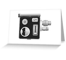 old cine camera Greeting Card