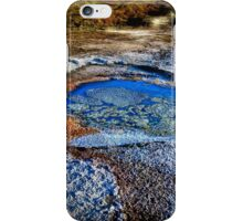 Water pools in sink holes on the shore of the Dead Sea iPhone Case/Skin