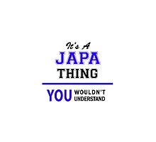 It's a JAPA thing, you wouldn't understand !! by thenamer