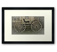 The Horse Drawn Carriage Framed Print