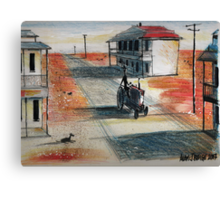 Rush-hour in the outback Canvas Print