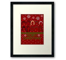 Pawnee Christmas Sweater Framed Print