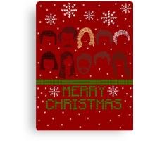 Pawnee Christmas Sweater Canvas Print