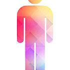 Multicolor retro man symbol by Tess Masero Brioso