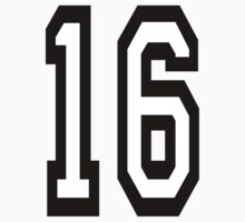 TEAM SPORTS, NUMBER 16, SIXTEEN, SIXTEENTH, Competition,  by TOM HILL - Designer