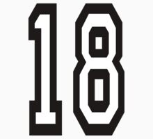 TEAM SPORTS, NUMBER 18, EIGHTEEN, EIGHTEENTH, Competition,  by TOM HILL - Designer