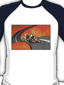 retro motorcycle Isle of Man TT poster T-Shirt