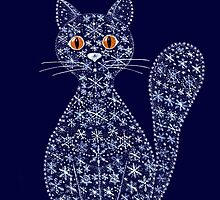 Snowflake cat by LaAmapolaRoja