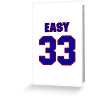 National football player Omar Easy jersey 33 Greeting Card