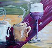 Coffee, Tea, and Wine by EloiseArt